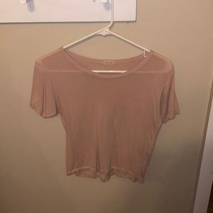 Cute John Galt Pink T Shirt from PacSun